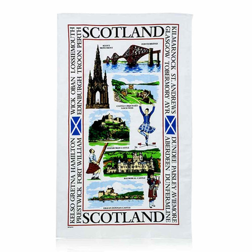 Sights of Scotland Tea Towel