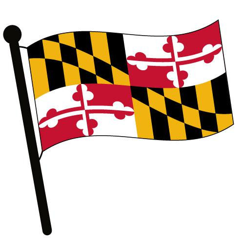 Maryland Waving Flag Clip Art - Downloadable Image