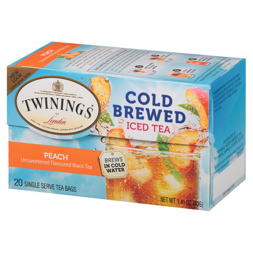 Twinings' Cold Brewed Iced Tea Peach - 20 count