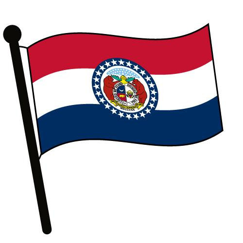 Missouri Waving Flag Clip Art - Downloadable Image
