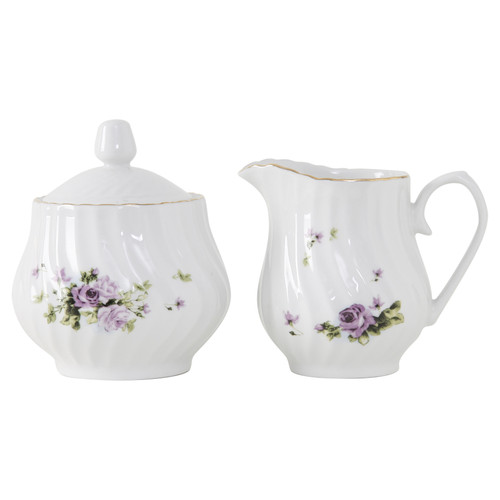 Lucinda Porcelain Sugar and Creamer Set