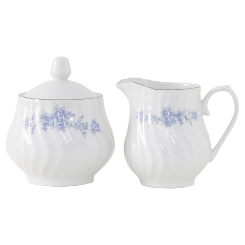 Royal Rose Porcelain Sugar and Creamer Set