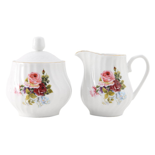 Philomena Porcelain Sugar and Creamer Set