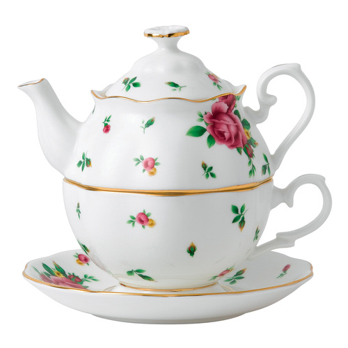Royal Albert New Country Roses White Fine Bone China - Tea for One Set