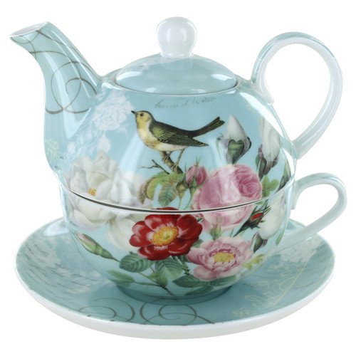 Botanical Blue Garden Porcelain - Tea for One Set