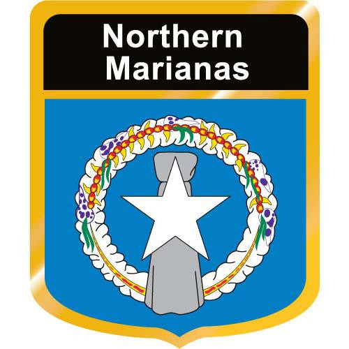 Northern Marianas Flag Crest Clip Art - Downloadable Image