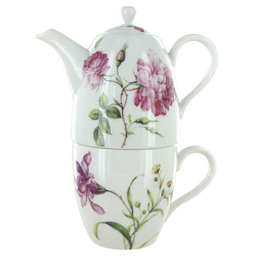 Dahlia 3 Piece Tall Tea For One Set