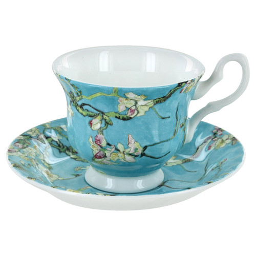 Cherry Blossom Bone China - Cup and Saucer - Set of 4