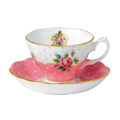 Royal Albert Cheeky Pink Fine Bone China - Tea Cup & Saucer