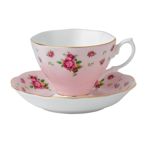 Royal Albert New Country Roses Pink  Fine Bone China - Tea Cup & Saucer