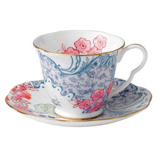 Wedgwood Butterfly Bloom Teacup & Saucer Set Spring Bloom