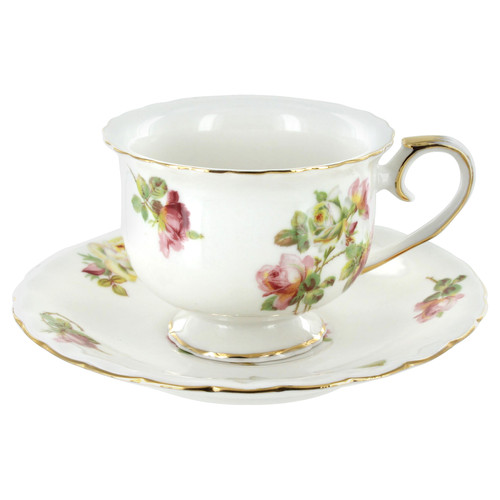 Royal Rose Cup and Saucer Set of 4