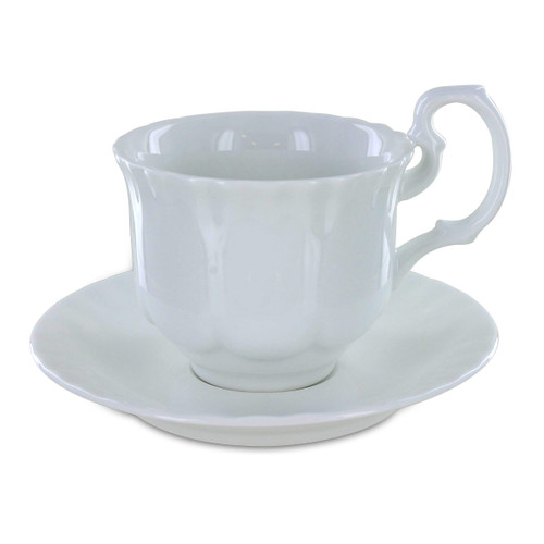 Avery Porcelain Tea Cups and Saucers - Set of 6