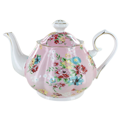 Shabby Rose Pink Porcelain - 5 Cup Teapot
