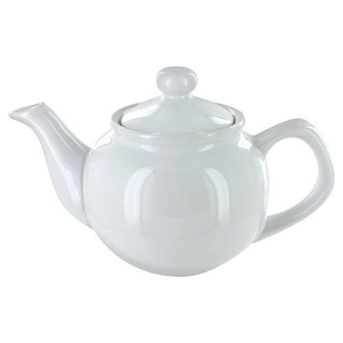 English Tea Store Brand 2 Cup Teapot - White Gloss Finish