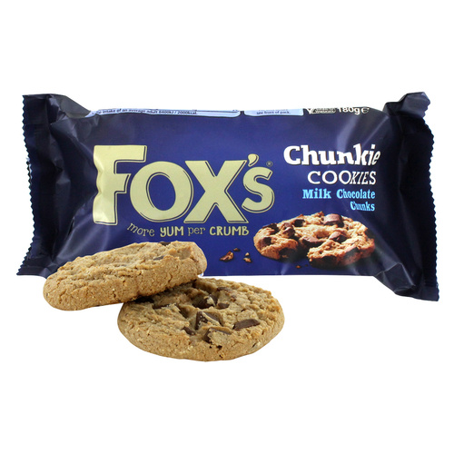 Fox's Chunkie Milk Chocolate  Cookies - 180g