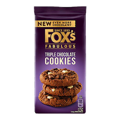 Fox's Triple Chocolate Cookies  - 175g