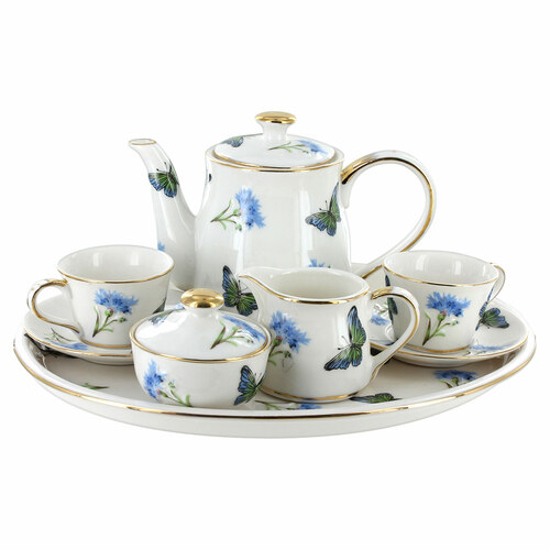 Childrens Tea Set -10 pcs - Blue Butterfly