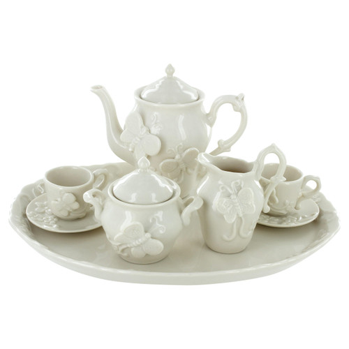 Childrens Tea Set -10 pcs - Raised Butterflies