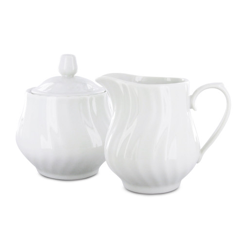 Porcelain Sugar & Creamer Set - Imperial White