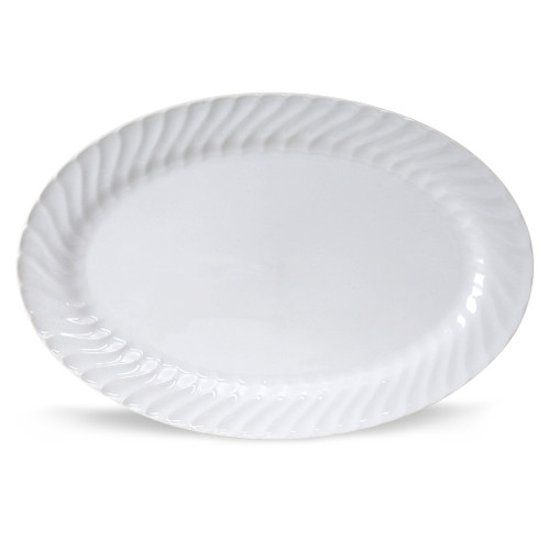 Porcelain Serving Tray - Imperial White - 14in.