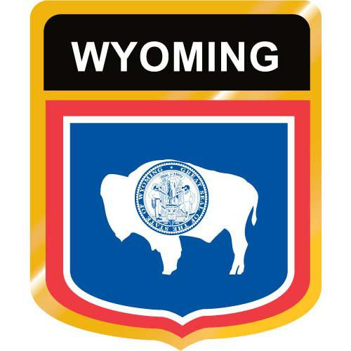Wyoming Flag Crest Clip Art - Downloadable Image