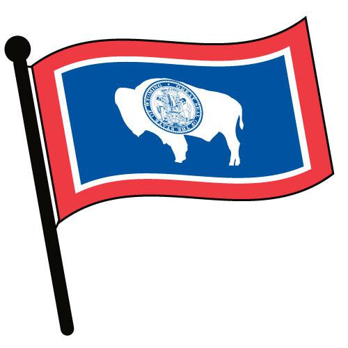 Wyoming Waving Flag Clip Art - Downloadable Image