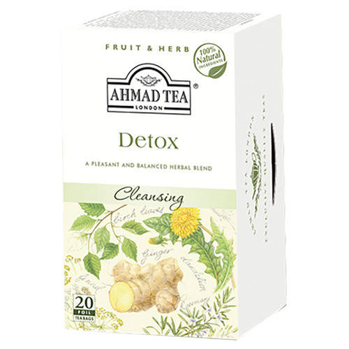 Ahmad Tea's Detox Herbal Tea Bags - 20 count