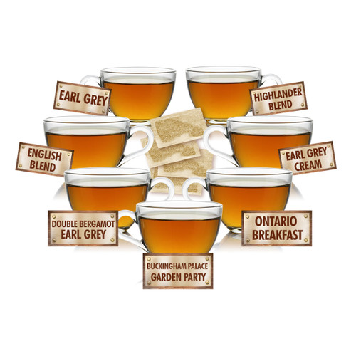English Favorites Sampler - 5 Tea Bags of 7 English Style Teas