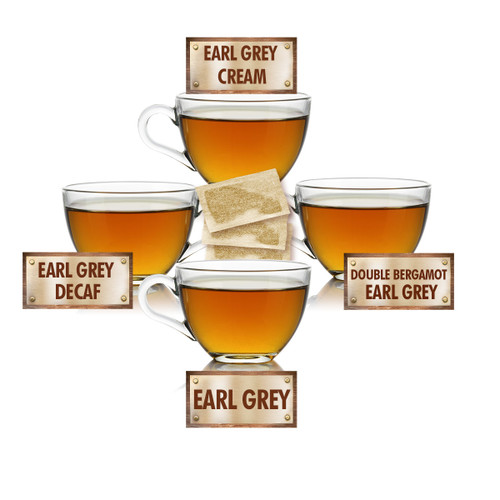 Earl Grey Tea Sampler - 5 Tea Bags of 4 Earl Grey Teas
