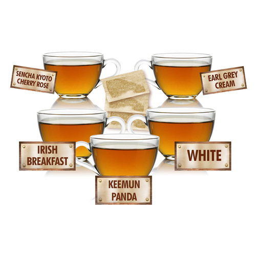 Delightful Teas Sampler - 5 Tea Bags of 5 Delicious Teas