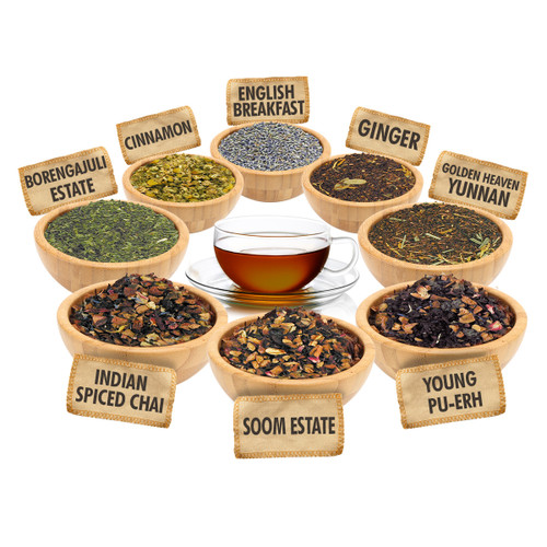 Always Time for Tea Sampler - 1 ounce Pouches of 8 Delicious Loose Leaf Teas
