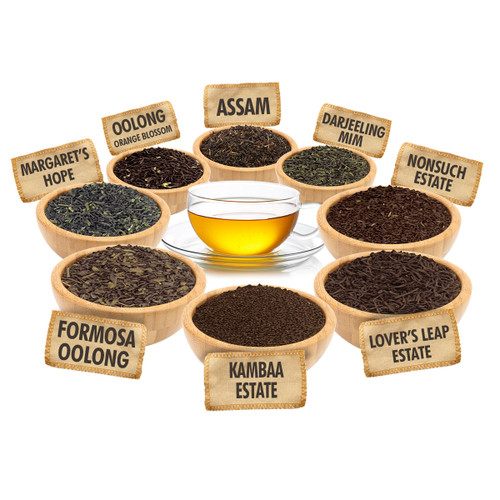 Estate Tea Sampler - 1 ounce Pouches of 8 Estate Loose Leaf Teas