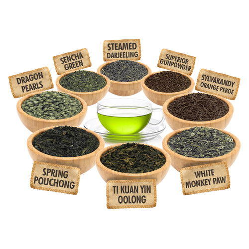 A Must for Any Tea Lover Sampler - 1 ounce Pouches of 8 Delicious Loose Leaf Teas