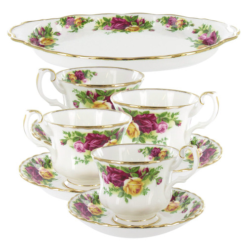 Royal Albert Old Country Roses 9 Piece Tea Set Completer