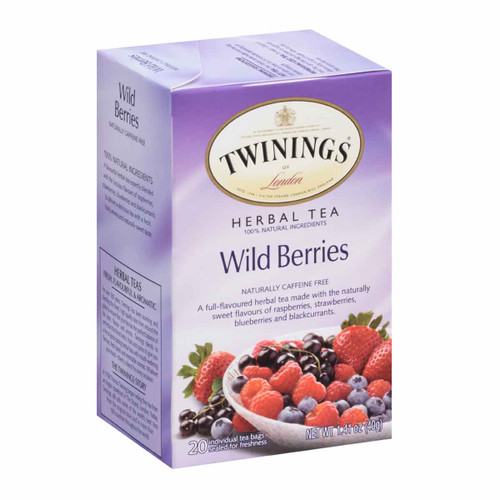 Twinings' Wild Berries Herbal Tea - 20 count