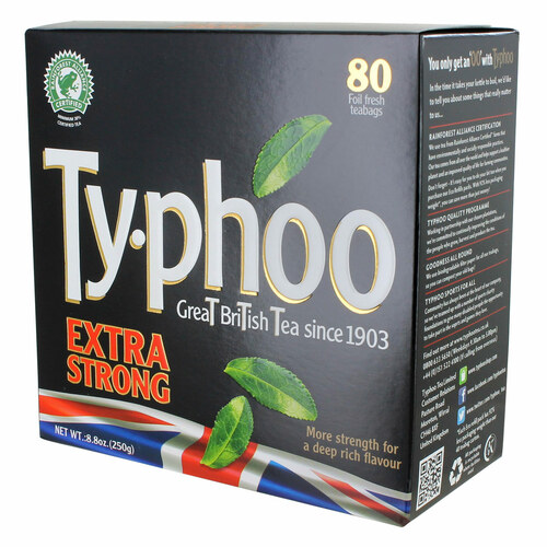 Typhoo Extra Strong Tea Bags - 80 count