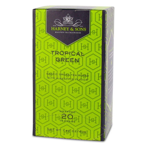 Harney and Sons Premium Tea - Tropical Green - 20 count