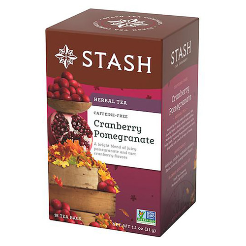 Stash Cranberry Pomegranate Herbal Tea Bags - 18 count