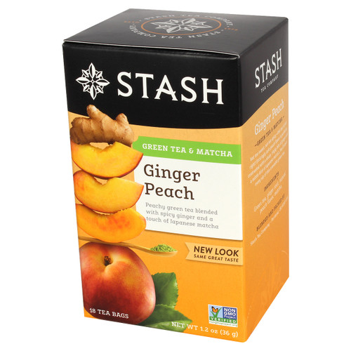 Stash Ginger Peach Green Tea - 18 count