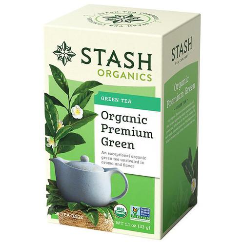 Stash Organic Premium Green Tea - 18 count