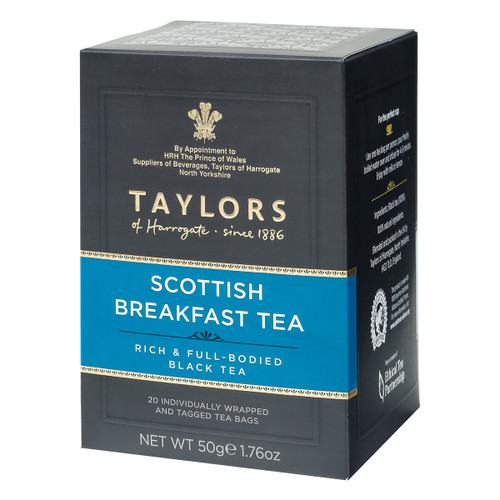 Taylors of Harrogate Scottish Breakfast String and Tag Teabags, 20ct