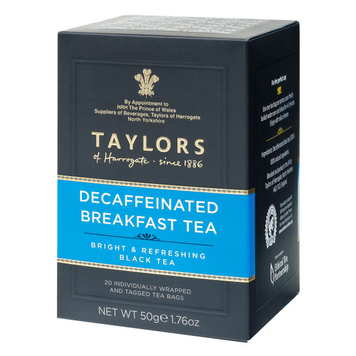 Taylors of Harrogate Decaffinated CO2 Breakfast String and Tag Teabags - 20 count