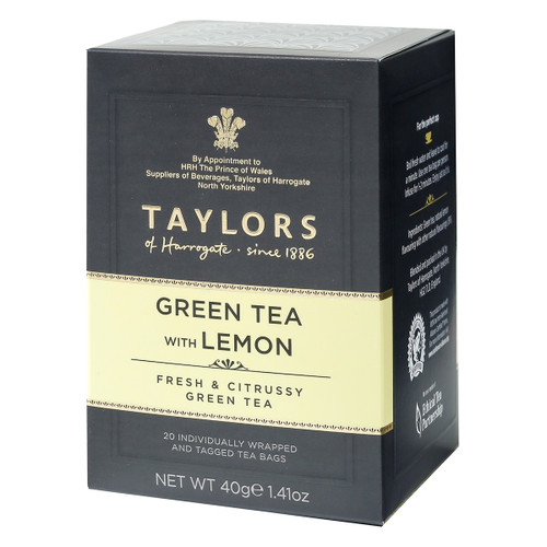 Taylors of Harrogate Green with Lemon Teabags - 20 count