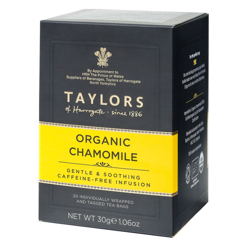 Taylors of Harrogate Organic Chamomile String and Tag Teabags, 20ct