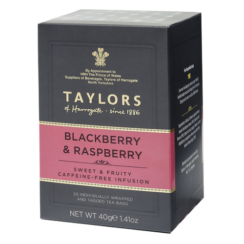 Taylors of Harrogate Tea - Blackberry & Raspberry Infusion - 20 count