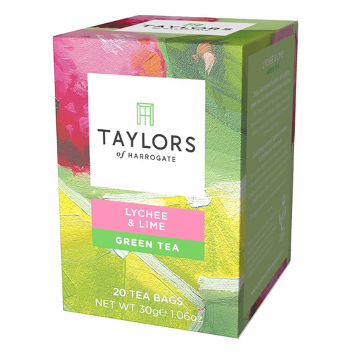 Taylors of Harrogate Tea - Lychee & Lime Green Tea - 20 count