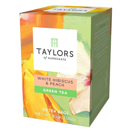 Taylors of Harrogate Tea - White Hibiscus & Peach Green Tea - 20 count