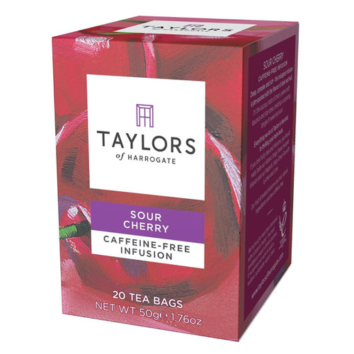 Taylors of Harrogate Tea - Sour Cherry Infusion Herbal Tea - 20 count