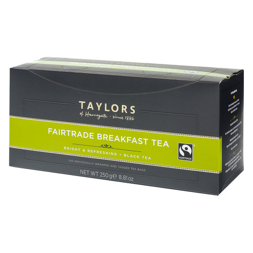 Taylors of Harrogate Fairtrade Breakfast - String & Tag 100 count